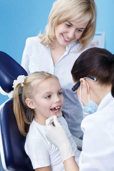 child with the dentist is an example of dentistry for children